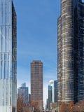 Torri alte residenziali moderne, Chicago Illinois fotografia stock libera da diritti