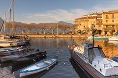 Torri del Benaco Marina Italy Arkivfoto