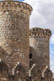 Torri del castello di Belmonte, Spagna Fotografie Stock