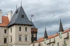 Torri del castello di Zleby Immagine Stock