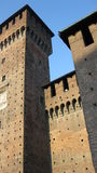 Torri del castello, Milano Immagini Stock Libere da Diritti