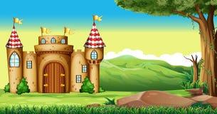 Torri del castello nel campo royalty illustrazione gratis