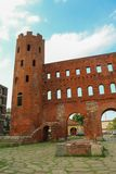 Torri del palatino, o Porta Palatina a Torino, Italia Preso nel luglio 2018 immagine stock
