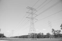 Torri del trasporto di energia Immagini Stock
