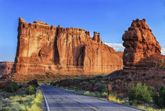 Torri del tribunale, arché parco nazionale, Utah immagini stock libere da diritti