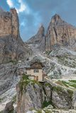 Torri del Vajolet, rifugio Preuss Royalty Free Stock Image