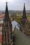 Torri della cattedrale della st Vitus Immagini Stock Libere da Diritti