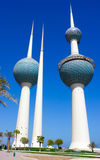 Torri di acqua di Madinat al-Kuwait Fotografie Stock