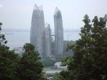 Torri di affari di Singapore Fotografia Stock