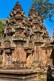 Torri di Banteay Srei Immagine Stock Libera da Diritti