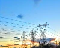 Torri di elettricità Immagini Stock Libere da Diritti