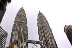 Torri di gemelli di Petronas - Kuala Lumpur Fotografie Stock Libere da Diritti