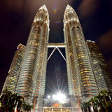 Torri di Petronas, Kuala Lumpur, Malesia Fotografia Stock