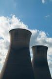 Torri di raffreddamento della centrale elettrica di Willington Fotografie Stock
