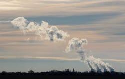 Torri di raffreddamento Yorkshire della centrale elettrica di Ferrybridge Fotografia Stock