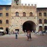 Torri di San Gimignano, San Gimignano, architettura, costruzione, facciata, oscilloscopio, portata, oscilloscopio a raggi catodic fotografia stock libera da diritti