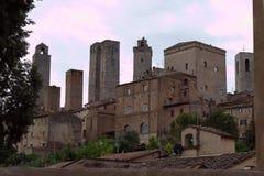 Torri di San Gimignano, Włochy obrazy stock