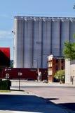 Torri di stoccaggio del grano Immagini Stock Libere da Diritti