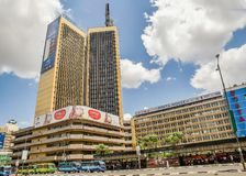 Torri di Teleposta nella città di Nairobi, Kenya immagine stock