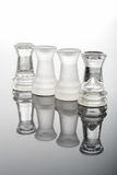 Torri di vetro trasparenti di scacchi Immagini Stock Libere da Diritti