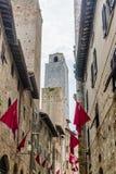 Torri e costruzioni di San Gimignano immagini stock libere da diritti