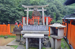 Torri Gates in Kyoto Royalty Free Stock Photo