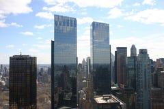 Torri gemelle dei grattacieli di New York piccole Fotografia Stock Libera da Diritti