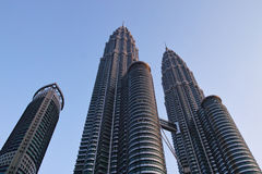 Torri gemelle di Petronas Fotografie Stock