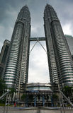 Torri gemelle di Petronas in Kuala Lumpur Fotografie Stock