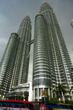 Torri gemelle di Petronas in Kuala Lumpur Fotografia Stock Libera da Diritti