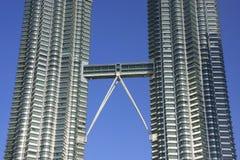 Torri gemelle di Petronas, Kuala Lumpur, Malesia Fotografie Stock Libere da Diritti