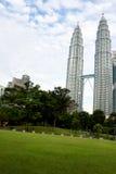 Torri gemelle Kuala Lumpur di Petronas Fotografia Stock