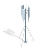 Torri isometriche di telecomunicazioni Un'illustrazione piana di vettore dell'antenna del ripetitore di comunicazione del telefon royalty illustrazione gratis