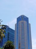 Torri moderne alte di vetro e di acciaio a Melbourne Immagini Stock