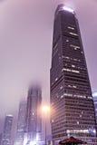 Torri nebbiose alla notte Fotografia Stock