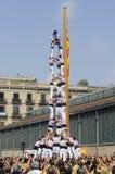 Torri umane catalane, Castells Fotografia Stock Libera da Diritti