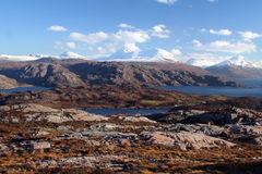 Torridon山,西北高地,苏格兰 库存图片