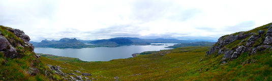 Torridon view. View of Loch Torridon and Inveralligin, Scottish Highlands Stock Photography