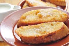 Torrijas, dessert espagnol typique pour Lent et Pâques Images libres de droits