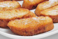 Torrijas, typical spanish dessert for Lent and Easter Royalty Free Stock Photos