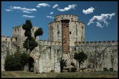Torrioni di Yedikule; Costantinopoli e la Turchia è una dei più vecchie si aprono Immagini Stock