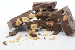 Torrone de chocolat sucré avec la nourriture fine de dessert de cacao et de sucre images libres de droits