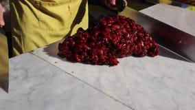 Torrone Siciliano - παραδοσιακός σισιλιάνος απόθεμα βίντεο
