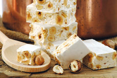 Torrone,typical italian holidays sweets Royalty Free Stock Image