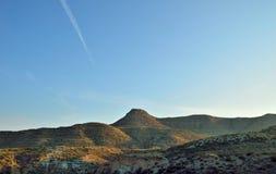 torrt berg Arkivfoto