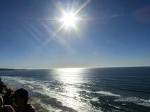 Torry sörjer stranden Arkivbild