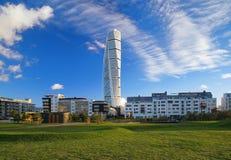 Torse de rotation - gratte-ciel à Malmö Images stock