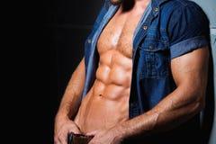 Torse parfait et sexy de jeune homme images stock