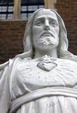 Torse/poitrine d'une statue religieuse de Jésus Images libres de droits