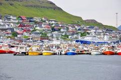 Torshavn,法罗岛 图库摄影